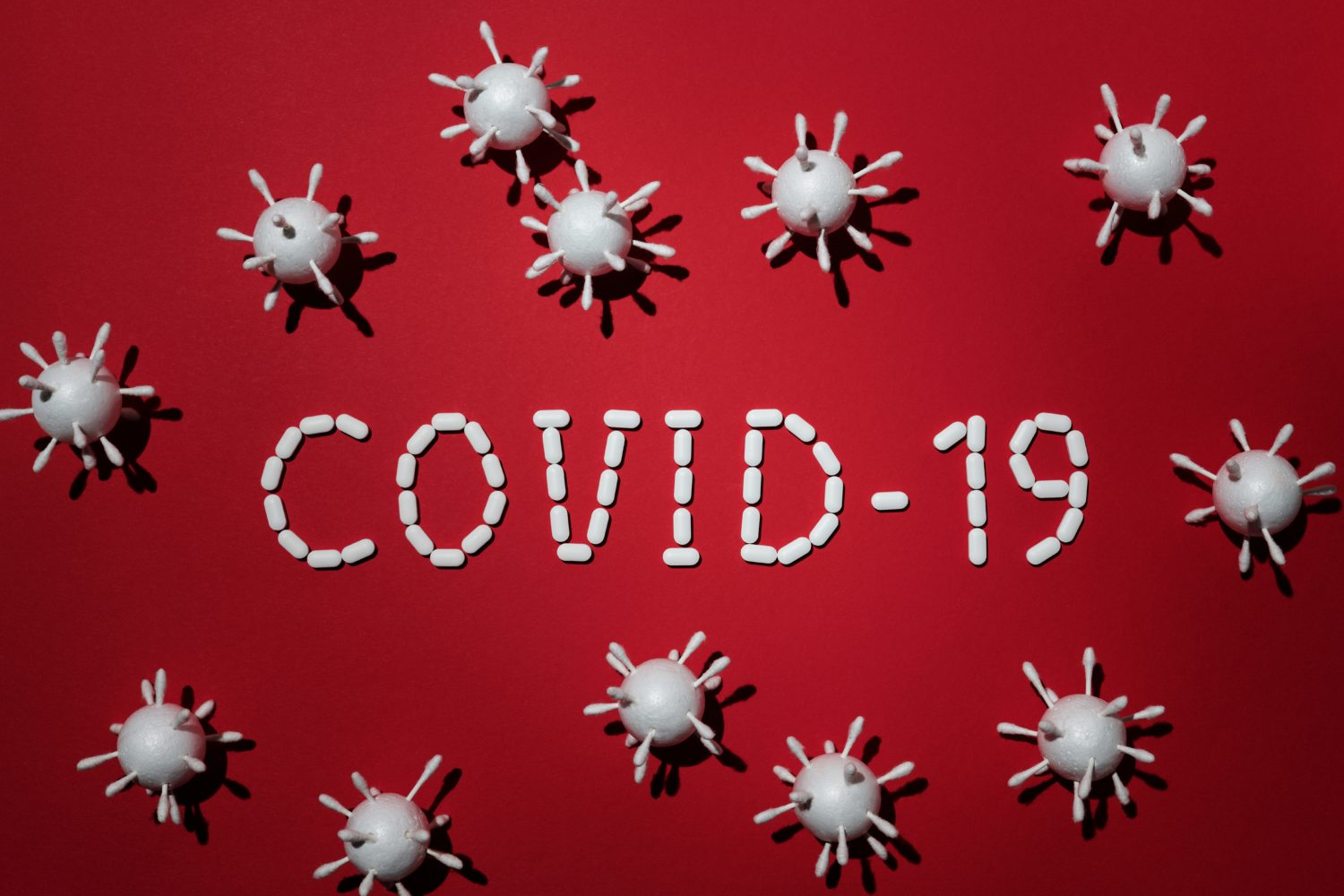 Concept Of Covid 19 In Red Background 4031867