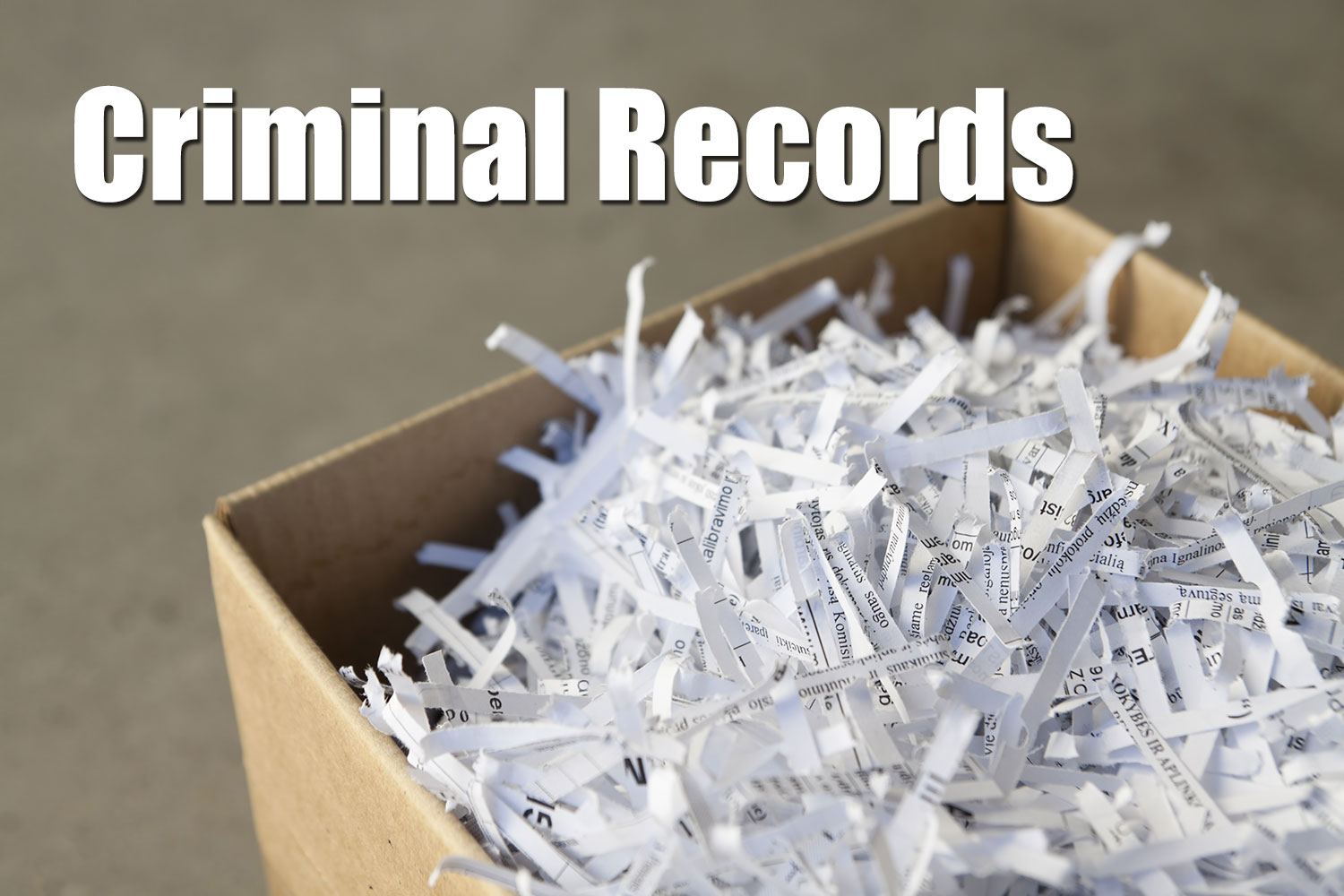 Criminal Record Expungement/Sealing